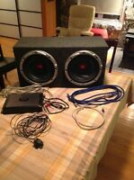 """2 12"""" 800w kenwood subs with 1200w pioneer amp"""