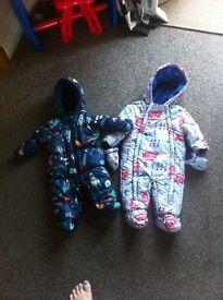Baby boys pram suits