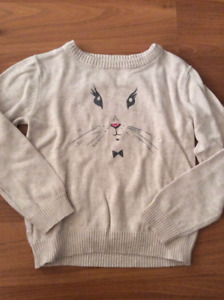 4T bunny sweater (fits small)