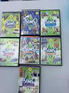 Sims 3 games $5 each or all for $25