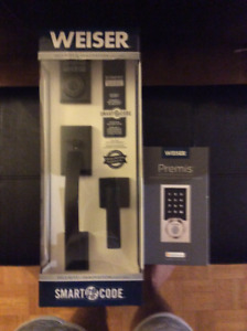 Weiser Premis Electronic Pad Lock and SmartCode handle Set