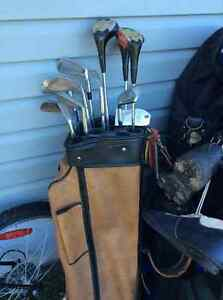 Golf clubs. Left handed