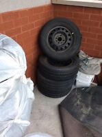 4 Sumer 4 winter tires with rims for Toyota Corolla 5142605594