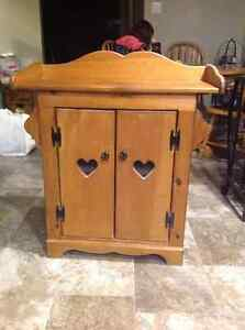Wooden wash stand cabinet