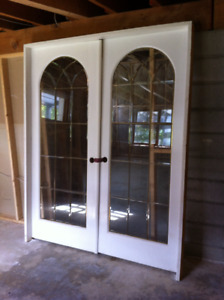 solid wood french doors