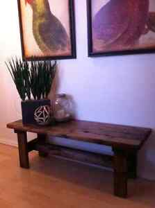 RUSTIC Bench SOLID WOOD - home decor
