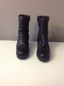 Ladies motorcycle boots size 10