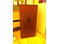 Solid dark wood locking cupboard
