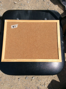 2 Small Cork Boards With Wooden Frame