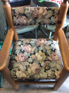 2 Vintage solid Pine Quebecoise chairs