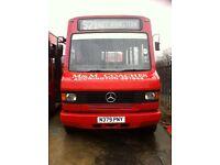 Mercedes 709D bus, possible camper van conversion