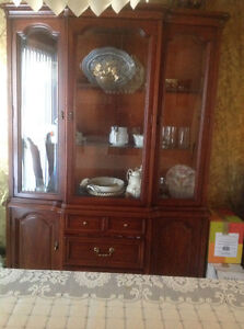 Hutch and buffet in cherry wood