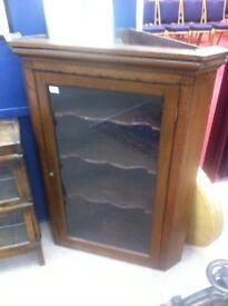 Oak corner cabinet / Victorian : free Glasgow delivery