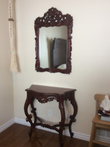 Victorian Table and Mirror