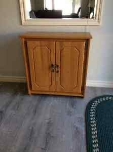 CUSTOM MADE SOLID OAK CABINET
