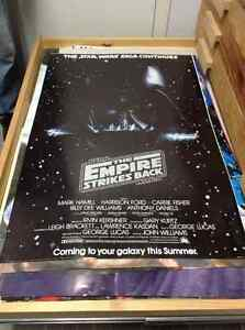 Star Wars The empire strikes back original movie poster Mint