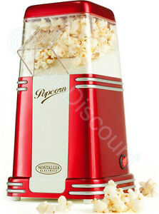 Nostalgia Electrics RHP310 Retro Vintage Mini Hot Air Popcorn Popper Maker Red