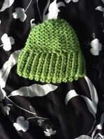 Green Baby's Hat (knitted)
