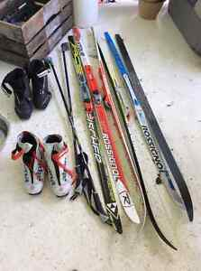 X-country skis and boots for sale