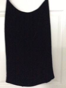 Clothing black velvet skirt