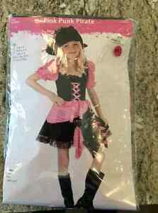 Pink pirate costume girls size 8-10 years old