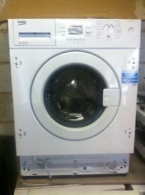 Integrated brand new BEKO PRP £359 washing machines warranty included 7kg-£179 8kg-£339. Sale**