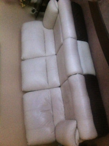 leather sofa & reclining chair
