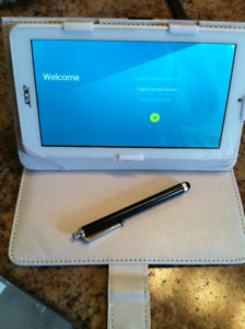 "ACER ICONIA ONE 7"" ANDROID TABLET - CASE & STYLUS!"