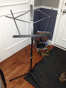 Collapsible and adjustable music stand for sale