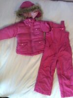 Down filled GAP winter snow suit toddler size 4
