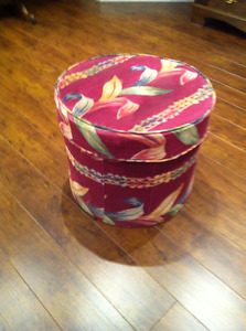 Decorated Cheese Box -- Wood Hat Box