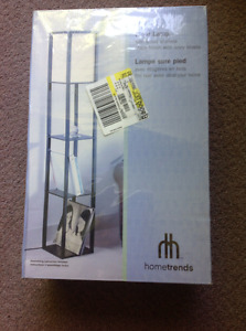 Brand new still in plastic Hometrends floor lamp/with shelves