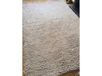 New Large Beige Super Soft Rug