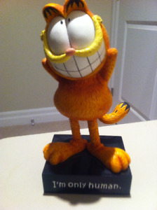 "Garfield - ""I am only human"" Bobble Head"