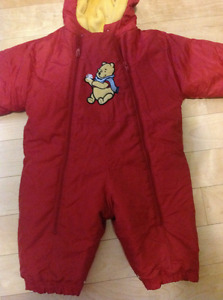 Winnie the Pooh 6-12 months winter coat and onsie outerwear