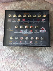 Molson Stanley Cup Ring Set with Display Case