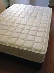 Double mattress and boxspring. Delivery included