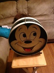 Vintage 2 sided mickey mouse drum