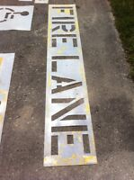 Contractor STENCILS for parking lots / warehouses