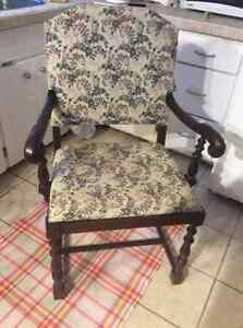 Vintage antique arm chair plus other lovely vintage chairs!