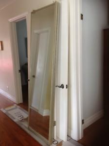 "Portes de garde-robe miroir coulissantes 48""x78"".$70 négoc."