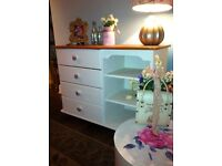 WHITE AND PINE SIDEBOARD (Shabby chic)