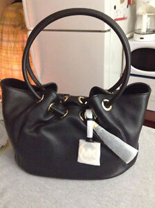 Michael Kors Ring Tote MD EW Black Leather Cambridge Kitchener Area image 3