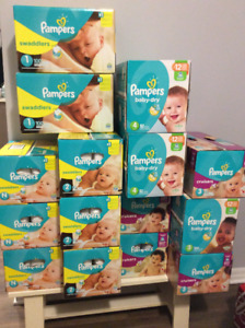 PAMPERS DIAPERS (and wipes)