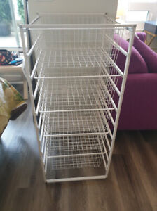 Wire Storage Unit with Drawers