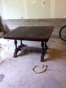 antique Table  with folding out leafs