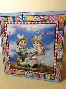 NEW IN BOX collectible Easter Fabric Mâché Bunnies Cambridge Kitchener Area image 2