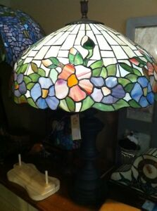 Large Stained Glass Lamp