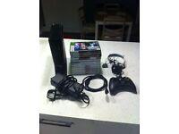 Microsoft Xbox 360 4gb slim console with 12 games S