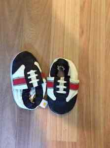 "6-12 month leather slippers baby boy ""Mini Star"""